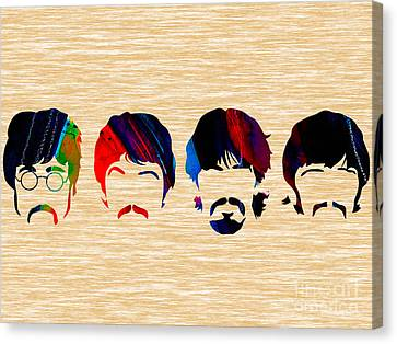 The Beatles Collection Canvas Print