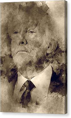 Donald Trump Canvas Print by Elena Kosvincheva