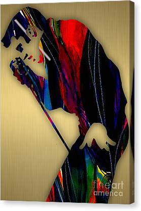 Elvis Presley Collection Canvas Print by Marvin Blaine