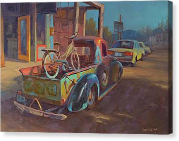 38' Ford In Jerome, Az Canvas Print