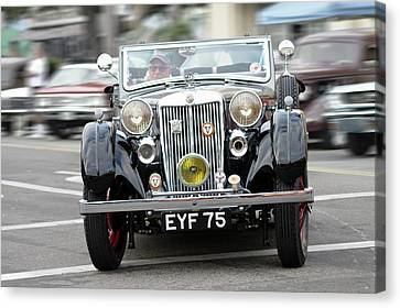 Canvas Print featuring the photograph 38 M G  V A Tickford by Bill Dutting