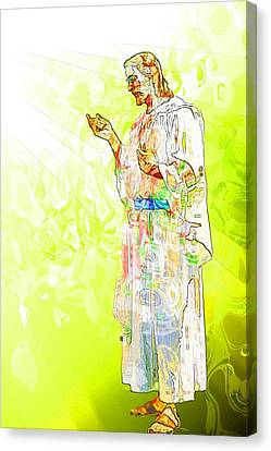 Jesus Christ - Religious Art Canvas Print by Elena Kosvincheva