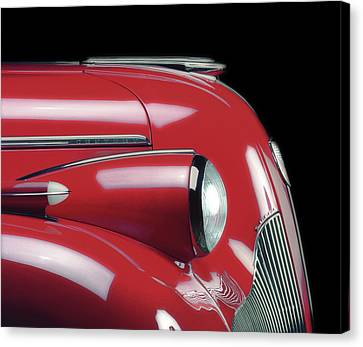 '39 Buick In Red, 1986 Canvas Print
