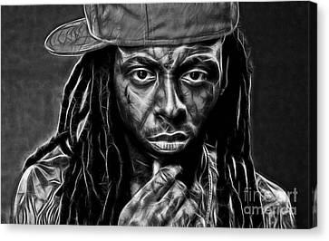 Wayne Canvas Print - Lil Wayne Collection by Marvin Blaine