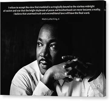 39- Martin Luther King Jr. Canvas Print by Joseph Keane