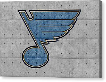 Cement Canvas Print - St Louis Blues by Joe Hamilton