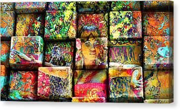3d Cubist Canvas Print
