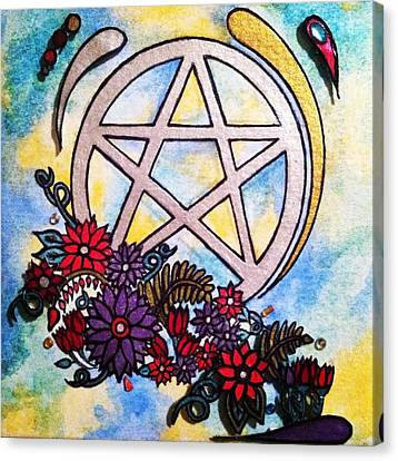 3d Pentacle Image Canvas Print by Kristina Rinier