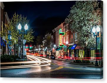 Franklin Tennessee Canvas Print - Franklin, Tennessee - 3rd And Main by David Tutterrow