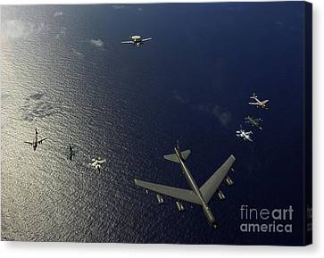 Cope Canvas Print - A U.s. Air Force B-52 Stratofortress by Stocktrek Images