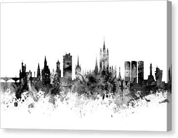 Aberdeen Scotland Skyline Canvas Print