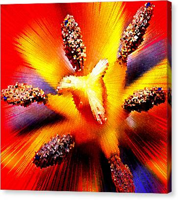 Abstract Flower Macro Canvas Print