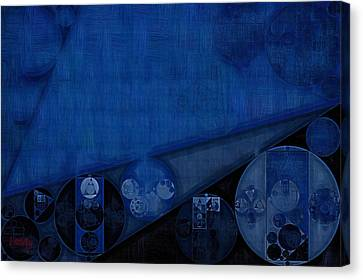 Abstract Painting - Dark Cerulean Canvas Print by Vitaliy Gladkiy