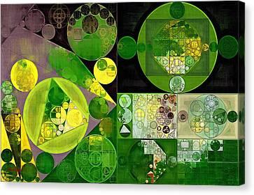 Abstract Painting - Phthalo Green Canvas Print by Vitaliy Gladkiy