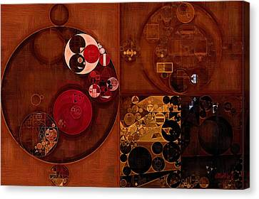 Abstract Painting - Seal Brown Canvas Print by Vitaliy Gladkiy