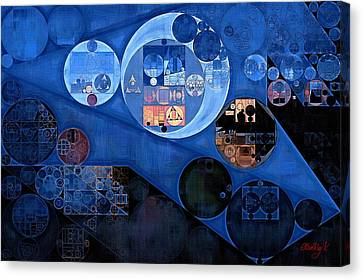 Abstract Painting - Yale Blue Canvas Print by Vitaliy Gladkiy