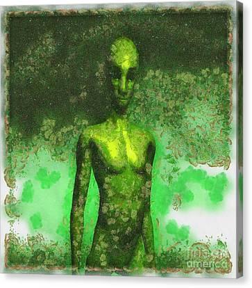 Alien Art By Raphael Terra Canvas Print by Raphael Terra