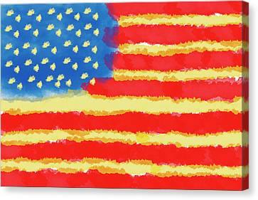 American Flag Canvas Print by Skip Nall