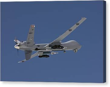 An Mq-9 Reaper Flies A Training Mission Canvas Print by HIGH-G Productions