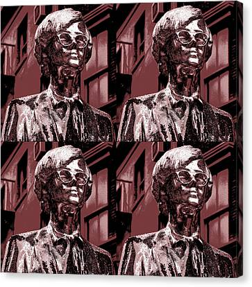 Andy Warhol Statue Union Square Nyc  Canvas Print by Robert Ullmann
