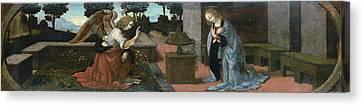Annunciation Canvas Print by Leonardo da Vinci