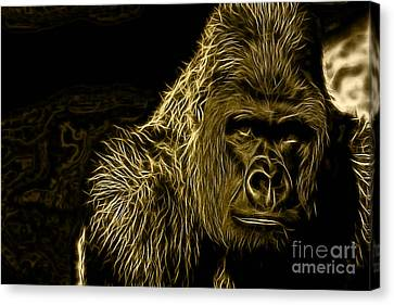 Gorilla Canvas Print - Ape Collection by Marvin Blaine