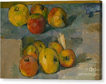 Apples Canvas Print by Paul Cezanne