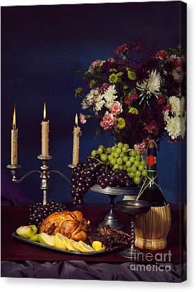 Artistic Food Still Life Canvas Print by Oleksiy Maksymenko