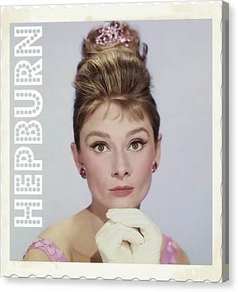 Audrey Hepburn Canvas Print by John Springfield