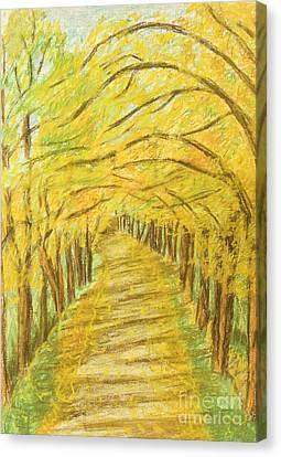 Autumn Landscape, Painting Canvas Print by Irina Afonskaya