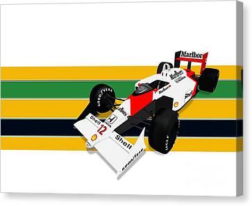 Ayrton Senna - Mclaren Honda Mp4/4 Canvas Print by Jeremy Owen