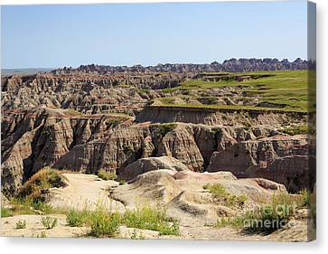 Badlands National Park South Dakota Canvas Print by Louise Heusinkveld