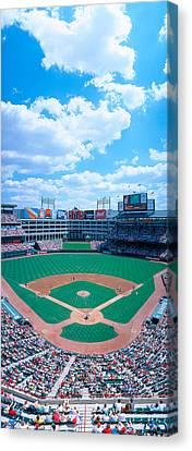 Baseball Stadium, Texas Rangers V Canvas Print by Panoramic Images
