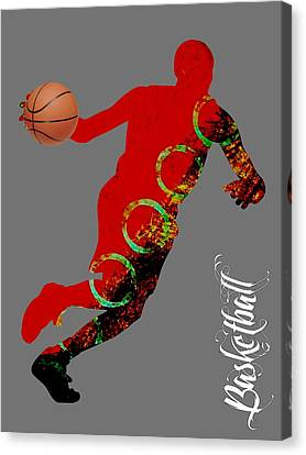 Basketball Canvas Print - Basketball Collection by Marvin Blaine