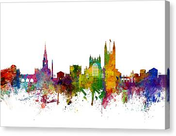 Bath England Skyline Cityscape Canvas Print