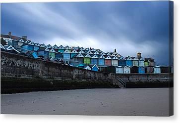 Beach Huts Canvas Print by Martin Newman