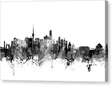 Beijing Canvas Print - Beijing China Skyline by Michael Tompsett