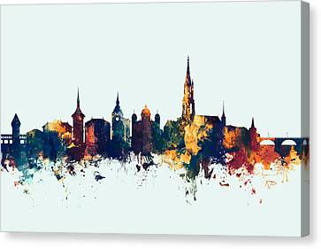 Bern Switzerland Skyline Canvas Print by Michael Tompsett