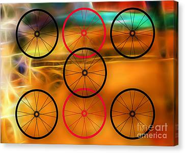 Bikes Canvas Print - Bicycle Wheel Collection by Marvin Blaine