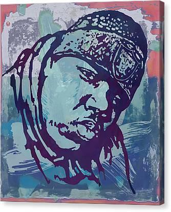 Biggie Smalls Modern Etching Art Poster Canvas Print
