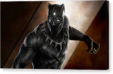 Comic Book Canvas Print - Black Panther Collection by Marvin Blaine