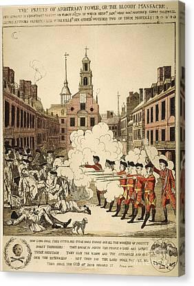 Boston Massacre, 1770 Canvas Print by Granger