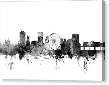 Brighton England Skyline Canvas Print