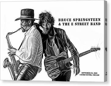 Bruce Springsteen Clarence Clemons Collection Canvas Print