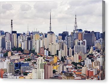 Buildings Of Downtown Sao Paulo Canvas Print
