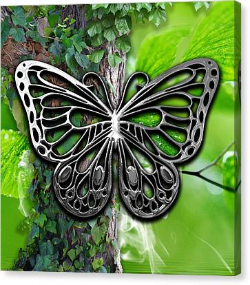 Butterfly Collection Canvas Print by Marvin Blaine