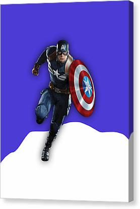 Captain America Canvas Print - Captain America Collection by Marvin Blaine