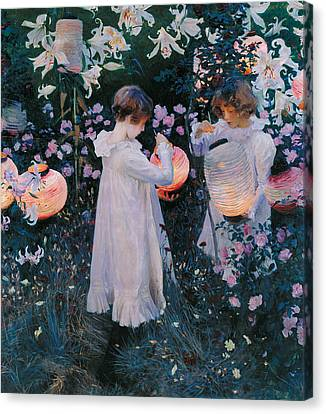 Carnation Lily Lily Rose Canvas Print by John Singer Sargent