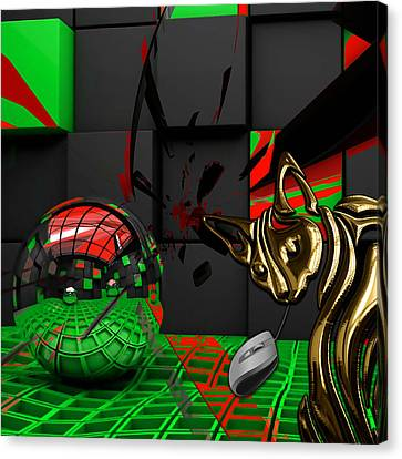 Cat And Mouse Art Collection Canvas Print