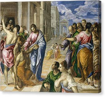 Healer Canvas Print - Christ Healing The Blind by El Greco